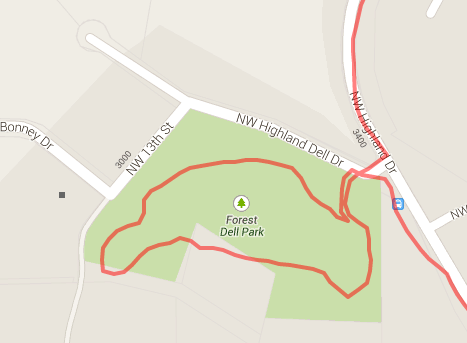 NIce little loop inside the park.